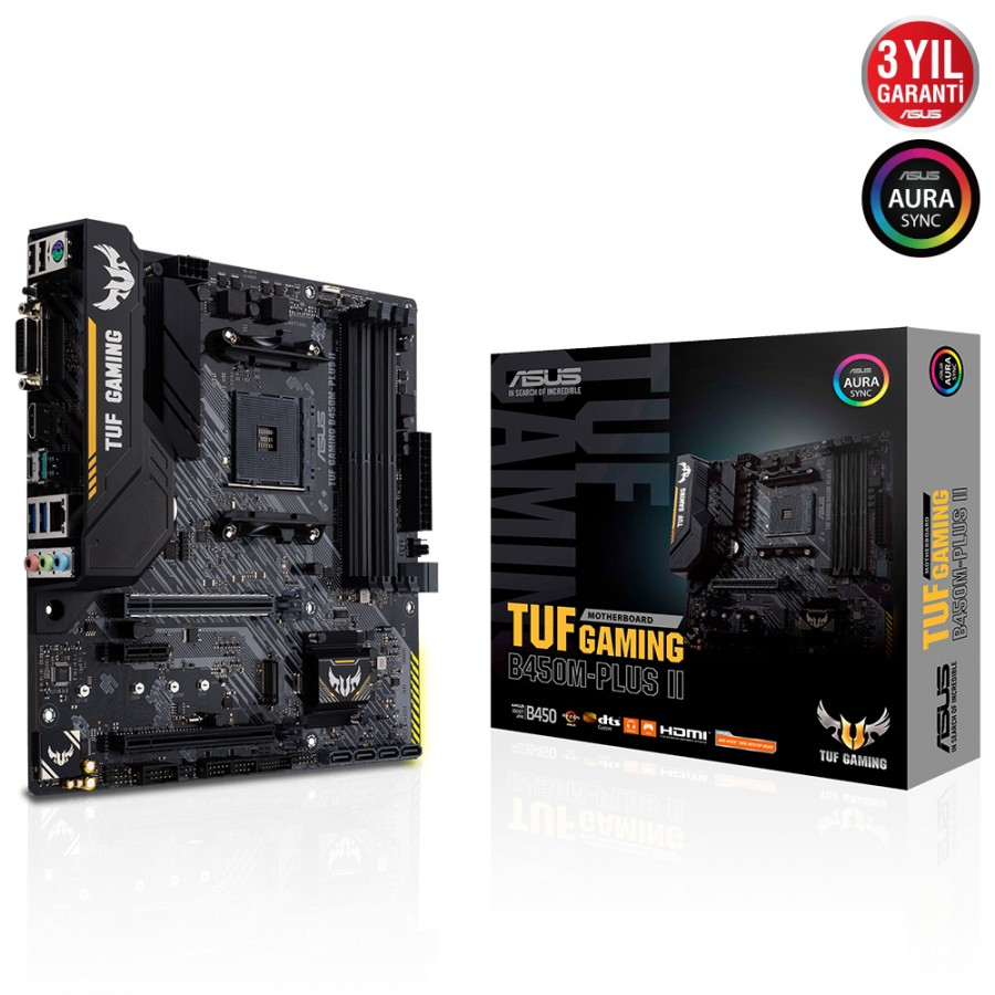ASUS TUF GAMING B450M-PLUS II 4400 DDR4 AM4