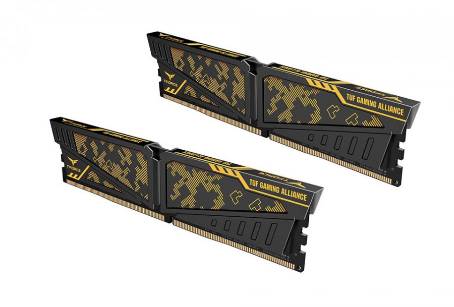 16GB TEAM DDR4 3200Mhz T-FORCE VULCAN TUF YELLOW 8Gx2