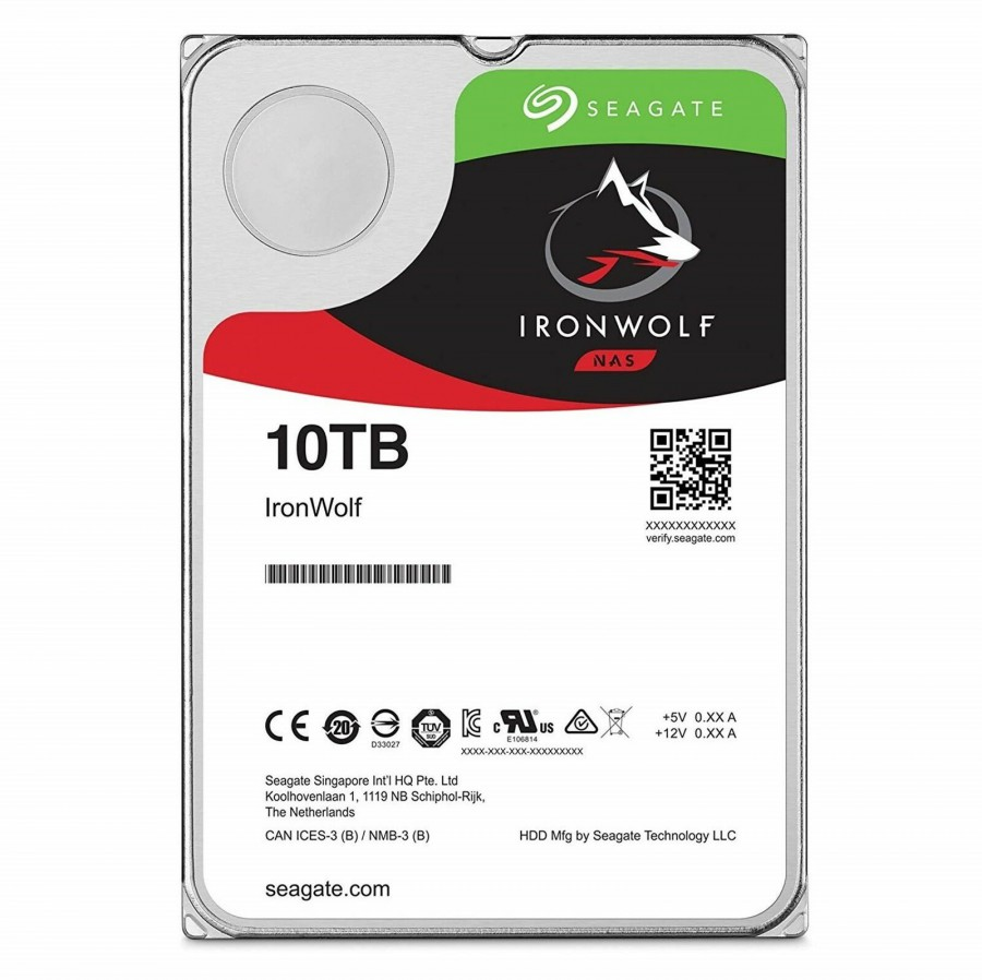 10TB SEAGATE IRONWOLF 7200 256M NAS ST10000VN0008