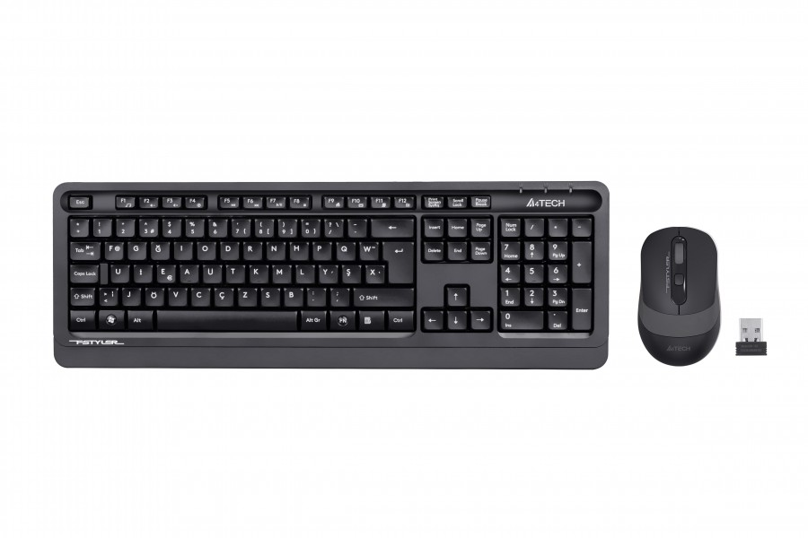 A4 TECH FG1010 F USB GRİ KLAVYE+MOUSE KABLOSUZ SET