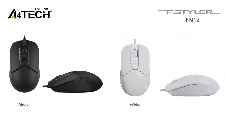 A4 TECH FM12 OPTIK MOUSE USB BEYAZ 1200 DPI